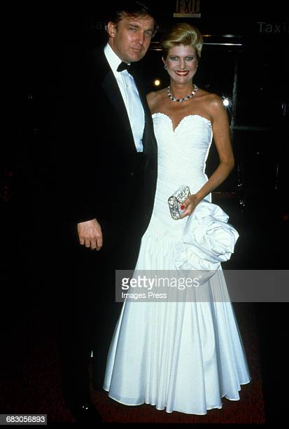 Donald Trump and Ivana Trump attend the Moda Italia Gala promoting Italian trade circa 1989 in New York City