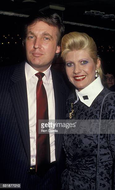 Donald Trump and Ivana Trump attends Who Owns The News Debate Gala on May 6 1987 at Tavern on the Green in New York City