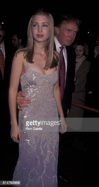 Donald Trump and Ivanka Trump attend 40th Annual Grammy Awards After Party on February 26 1998 at Manhattan Center in New York City