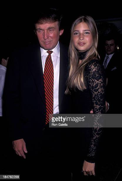 Donald Trump and Ivanka Trump attend 50th Birthday Party for Donald Trump on June 13 1996 at Trump Tower in New York City