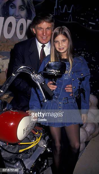 Donald Trump and Ivanka Trump attend HarleyDavidson Cafe Grand Opening on October 19 1993 in New York City