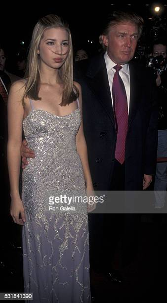 Donald Trump and Ivanka Trump attend Sony After Party for40th Annual Grammy Awards on February 26 1998 at the Manhattan Center in New York City