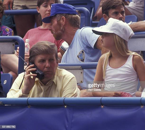 Donald Trump and Ivanka Trump attend US Open Tennis Championship on August 30 1991 at Flushing Meadows in New York City