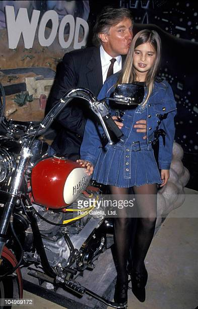 Donald Trump and Ivanka Trump during Grand Opening of The Harley Davidson Cafe at Harley Davidson Cafe in New York City New York United States
