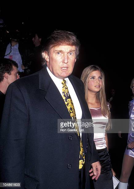Donald Trump and Ivanka Trump during Sixth On Seventh Spring Collections Versus By Versace at Bryant Park in New York City New York United States