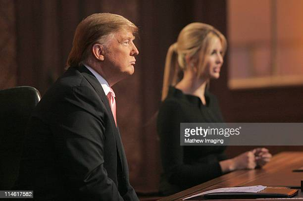 Donald Trump and Ivanka Trump during The Apprentice Season 6 Finale at The Hollywood Bowl at Hollywood Bowl in Hollywood California United States