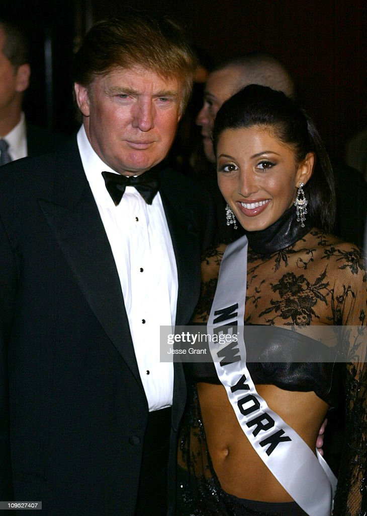 Donald Trump and Jaclyn Nesheiwat, Miss New York, USA