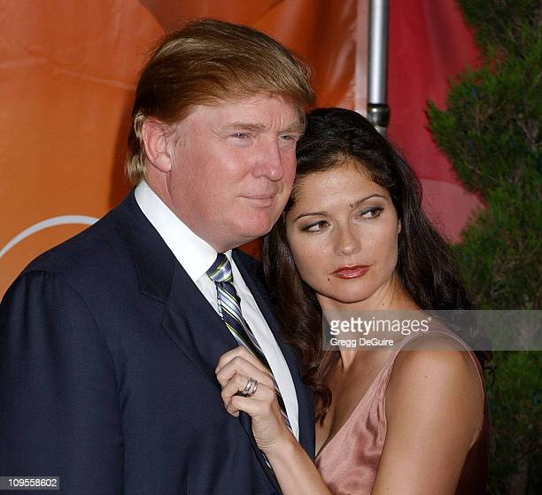 Donald Trump and Jill Hennessy during 2004 NBC All Star Party Arrivals at Universal Studios in Universal City California United States