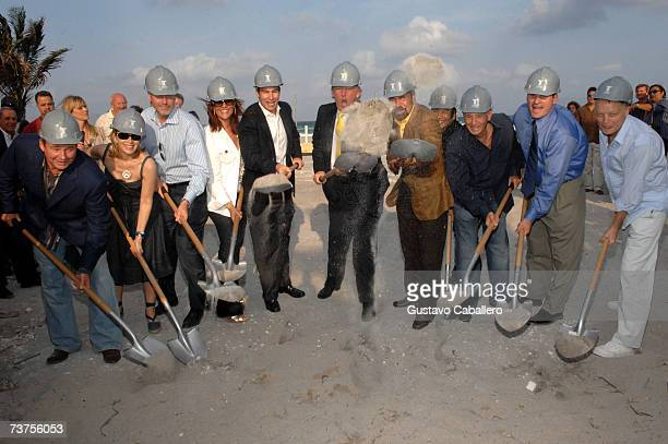 Donald Trump and Jorge Perez break ground at Trump's latest project Trump Hollywood on March 30 2007 in Hollywood Florida