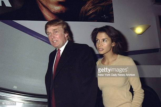 Donald Trump and Kara Young attending screening of the movie The Boxer at the Coronet Theater