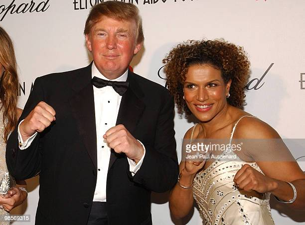 Donald Trump and Lucia Rijker