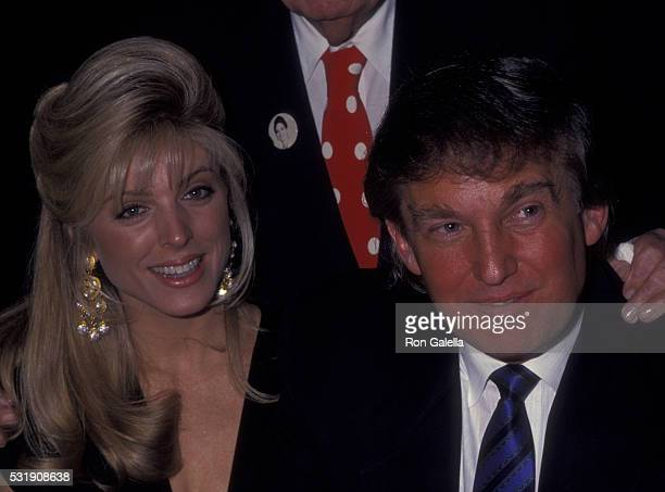 Donald Trump and Marla Maples attend 80th Birthday Party for Joey Adams on 80th Birthday Party for Joey Adams on January 7 1991 at the Helmsley Hotel...