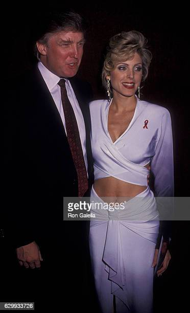 Donald Trump and Marla Maples attend Eighth Annual Easter Bonnet Competition on March 29 1994 at the Minskoff Theater in New York City