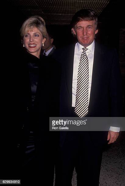 Donald Trump and Marla Maples attend En Garde Arts Benefit on December 5, 1994 at 55 Water Street in New York City.