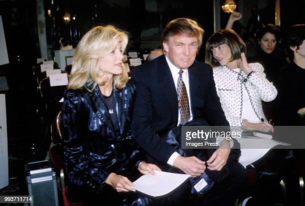 Donald Trump and Marla Maples circa 1995 at New York Fashion Week