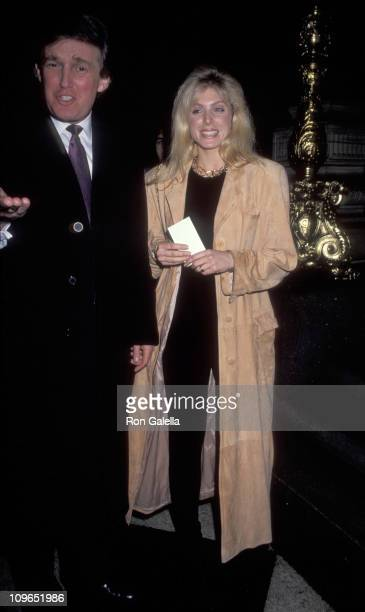 Donald Trump and Marla Maples during Arista Records PreGrammy Party at Plaza Hotel in New York City New York United States