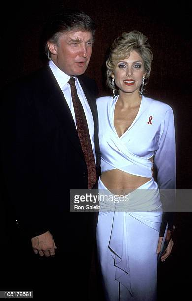 Donald Trump and Marla Maples during Broadway's 8th Annual Easter Bonnet Competition at Minskoff Theater in New York City New York United States