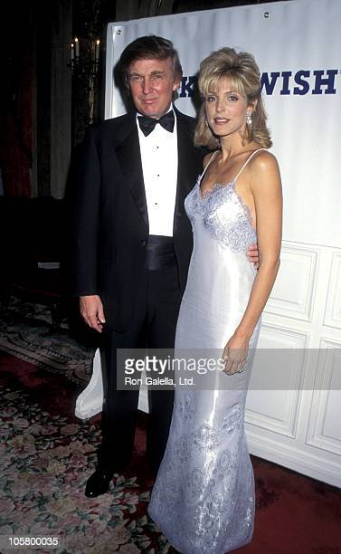 Donald Trump and Marla Maples during Dinner Dance Benefit for The Make A Wish Foundation at Plaza Hotel in New York City New York United States
