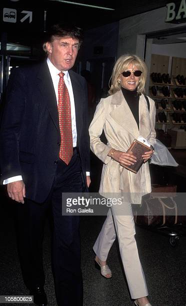 Donald Trump and Marla Maples during Donald Trump and Marla Maples Sighting - March 16, 1997 at Los Angeles International Airport in Los Angeles,...