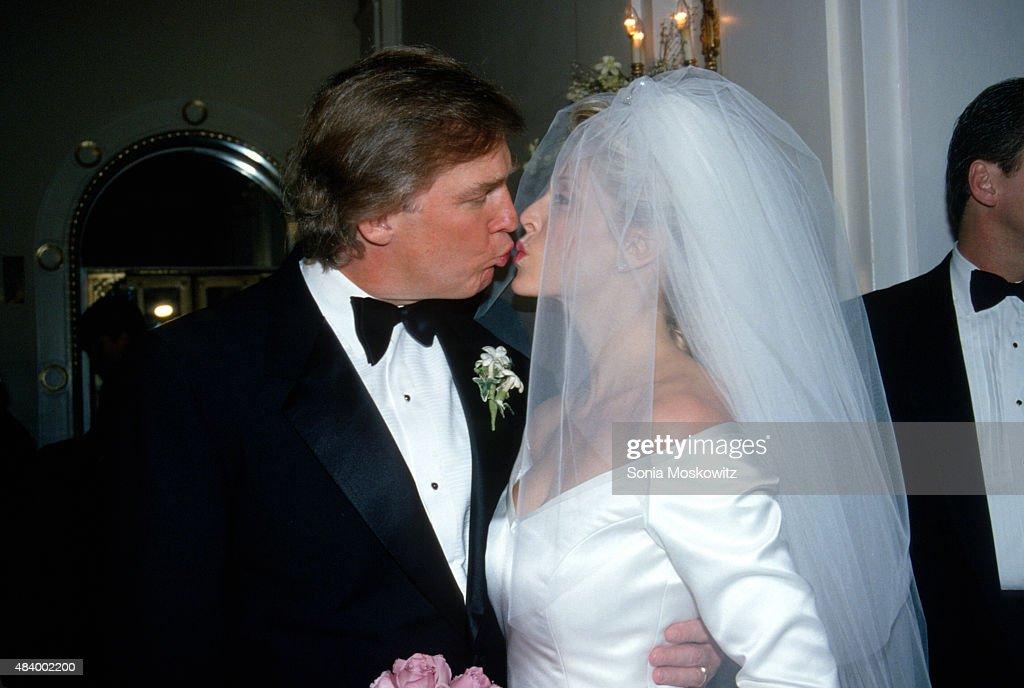 Donald Trump And Marla Maples Wedding : News Photo