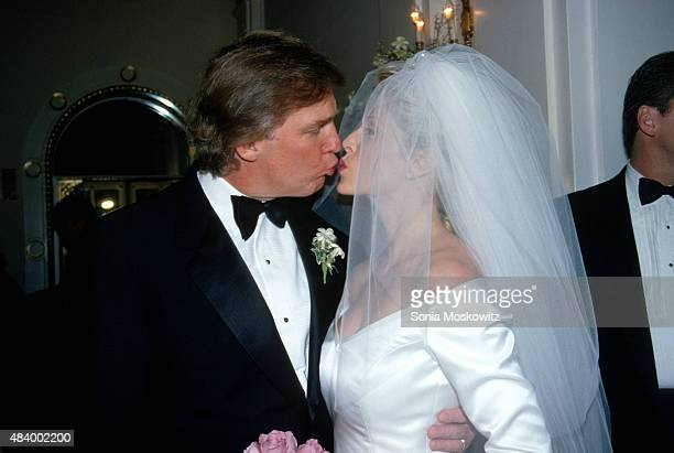 Donald Trump and Marla Maples marry at the Plaza Hotel December 20 1993 in New York City