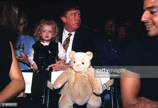 Donald Trump and Marla Maples with daughter Tiffany Trump and David Blaine in 1995 in New York City New York