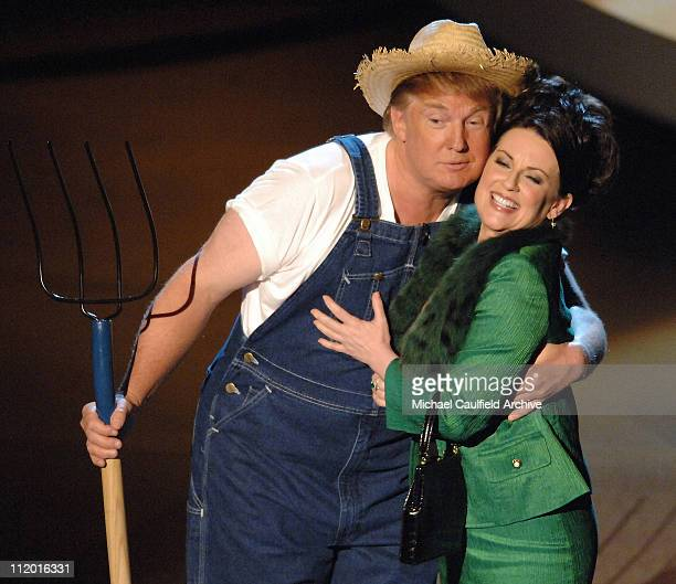 """Donald Trump and Megan Mullally perform the """"Green Acres"""" theme song for Emmy Idol"""