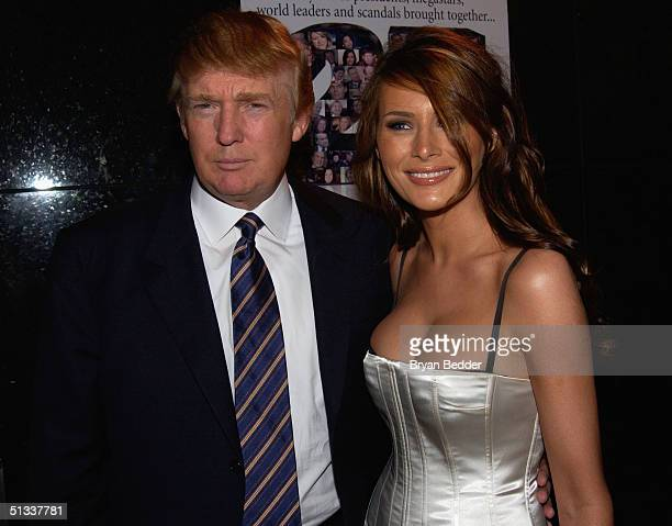 "Donald Trump and Melania Knauss arrive to the celebration in honor of Barbara Walters and 25 years of ""20/20"" September 22, 2004 in New York City."