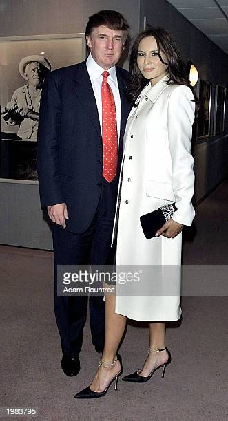 Donald Trump and Melania Knauss arrive to the screening of HBO production The Kid Stays In The Picture at the AOL Time Warner Screening Room New York...