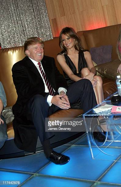 Donald Trump and Melania Knauss during 'Apprentice II' Fashion Episode Viewing Party Hosted by Gen Art and Trump Model Management at Pressure in New...