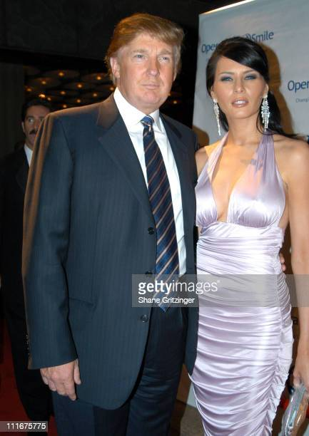 Donald Trump and Melania Knauss during Operation Smile's 'Smile Collection' 2004 Couture Event at Whitney Museum's Robert J Hurst Family Galllery in...