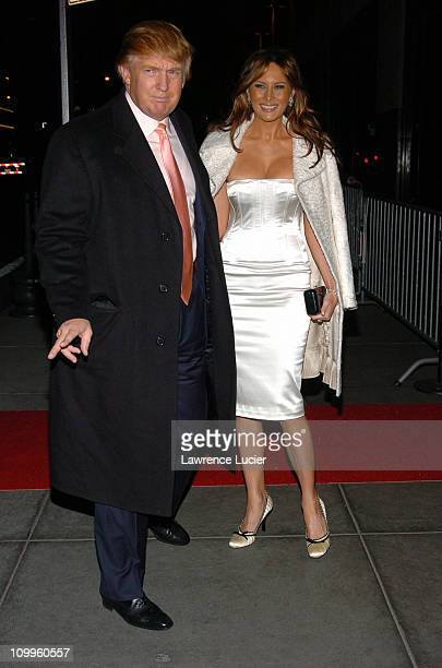 Donald Trump and Melania Knauss during Usher's 26th Birthday Party at Rainbow Room in New York City New York United States