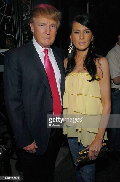 Donald Trump and Melania Knauss during Z100's Zootopia 2004 Backstage at Madison Square Garden in New York City New York United States