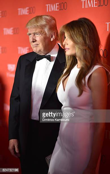 Donald Trump and Melania Trump attend 2016 Time 100 Gala Time's Most Influential People In The World red carpet at Jazz At Lincoln Center at the...