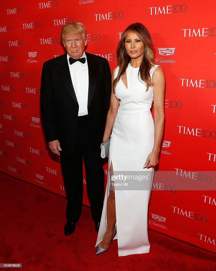 Donald Trump and Melania Trump attend the 2016 Time 100 Gala at Frederick P. Rose Hall, Jazz at Lincoln Center on April 26, 2016 in New York City.