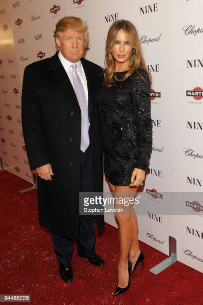 Donald Trump and Melania Trump attend the New York premiere of NINE at the Ziegfeld Theatre on December 15 2009 in New York City