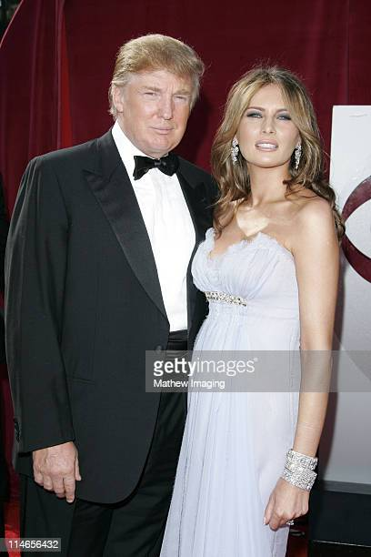 Donald Trump and Melania Trump during 57th Annual Primetime Emmy Awards - Arrivals at The Shrine in Los Angeles, California, United States.