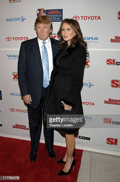Donald Trump and Melania Trump during Sports Illustrated 2005 Sportsman of the Year Party Arrivals at Stone Rose in New York City New York United...