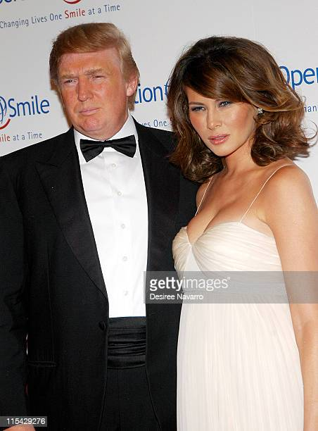 """Donald Trump and Melania Trump during """"The Smile Collection"""" - Operation Smile's Annual Charity Dinner and Live Auction at Skylight Studios in New..."""