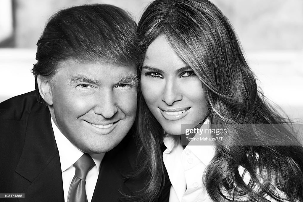 Melania, Donald, And Barron Trump At Home Shoot : News Photo