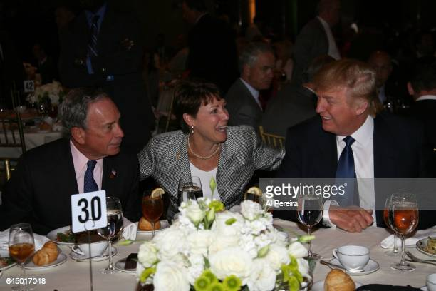 Donald Trump and Michael Bloomberg attend the NY Jets kickoff luncheon party at Cipriani Wall Street on August 27 2008 in New York