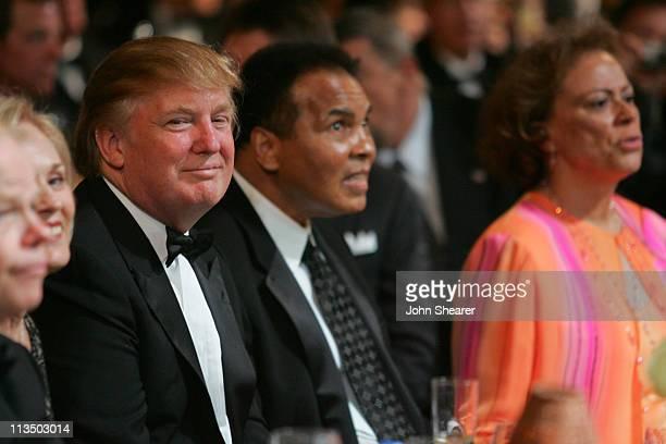 Donald Trump and Muhammad Ali during Muhammad Ali's Celebrity Fight Night XIII Show at Marriot Desert Ridge Resort Spa in Phoenix Arizona United...