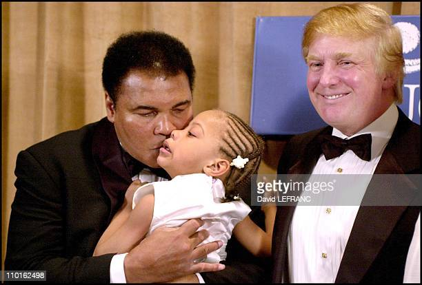 Donald Trump and Muhammad Ali in New York United States on March 14 2001