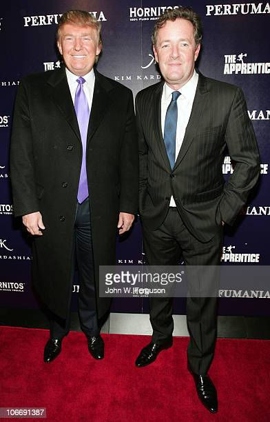 "Donald Trump and Piers Morgan celebrate Kim Kardashian's appearance on ""The Apprentice"" at Provacateur on November 10, 2010 in New York, New York."