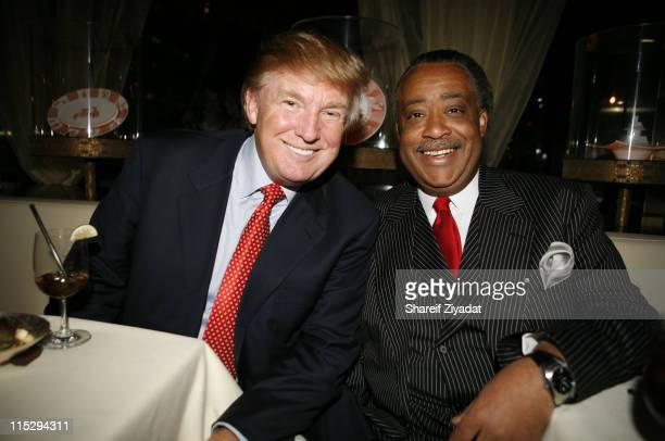Donald Trump and Rev Al Sharpton during Grand Opening of Megu Midtown at Trump World Towers at Trump World Towers in New York NY United States