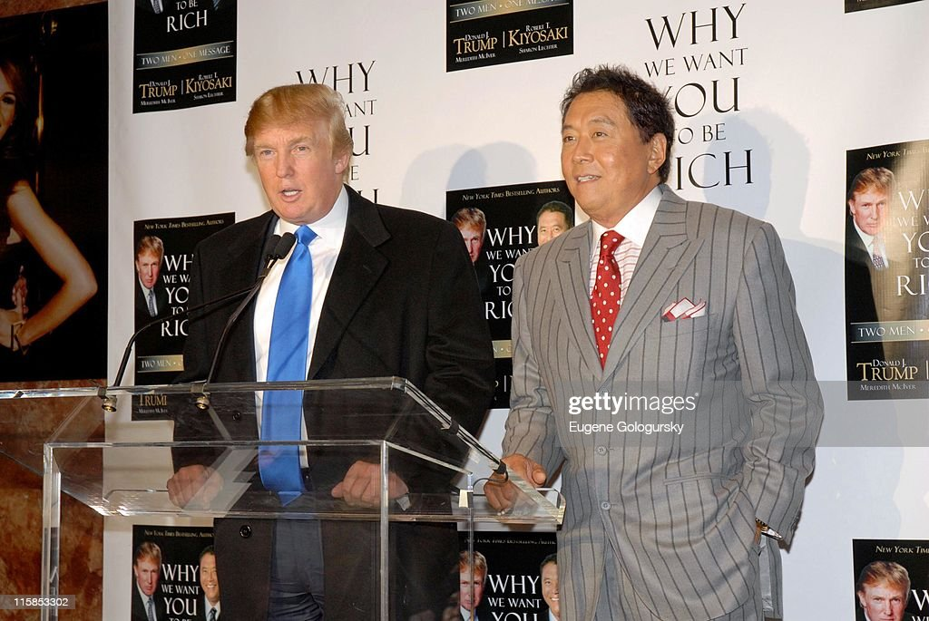 """Donald Trump and Robert Kiyosaki Host a Press Briefing to Launch Their New Book """"Why We Want You To Be Rich"""" : News Photo"""