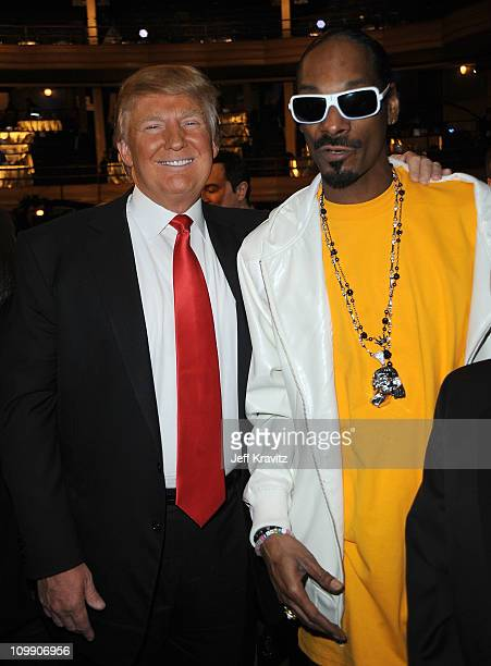 Donald Trump and Snoop Dogg attend the COMEDY CENTRAL Roast of Donald Trump at the Hammerstein Ballroom on March 9 2011 in New York City