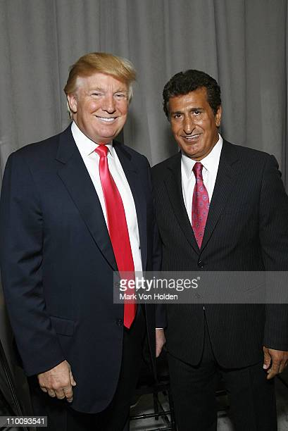 Donald Trump and Tevfik Arif at the Trump Soho Launch on September 19 2007 in New York City
