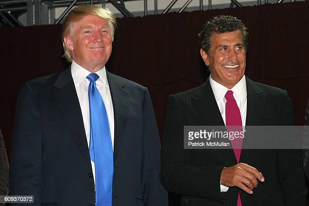 Donald Trump and Tevfik Arif attend Trump Soho Hotel Condominium Launch Party at Tribeca Rooftop on September 19 2007 in New York City