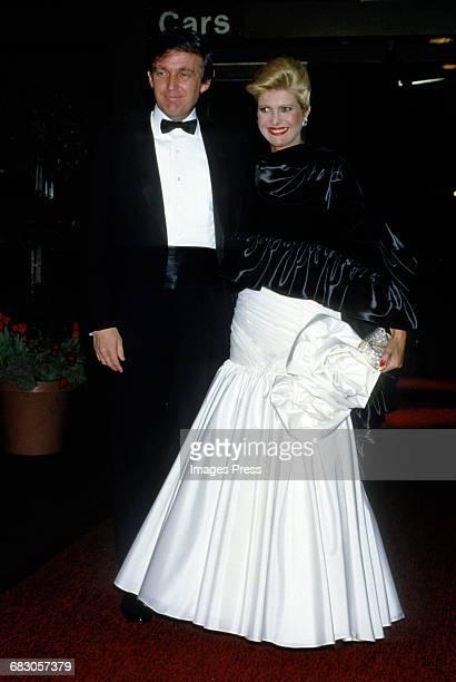 Donald Trump and wife Ivana Trump at the Moda Italia Gala promoting Italian trade circa 1989 in New York City
